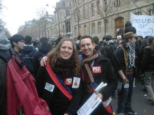 Manif des lycéen-nes à Paris le 8 avril