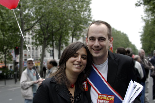 Avec Charlotte Balavoine, l'ancienne Secrétaire de la JC de Paris